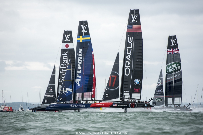 Portsmouth (UK) - Race Day 2, Day 2, 35th America's Cup Bermuda 2017 - Louis Vuitton America's Cup World Series New York - Setup Day
